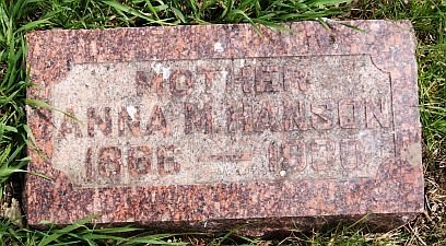 HANSON, ANNA M - McCook County, South Dakota | ANNA M HANSON - South Dakota Gravestone Photos