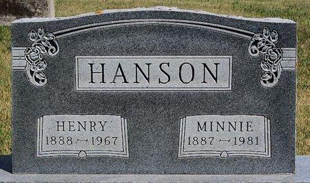 HANSON, MINNIE - McCook County, South Dakota | MINNIE HANSON - South Dakota Gravestone Photos