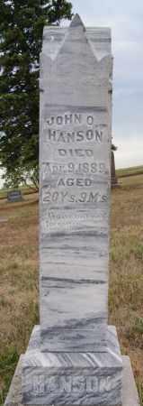 HANSON, JOHN O - McCook County, South Dakota | JOHN O HANSON - South Dakota Gravestone Photos