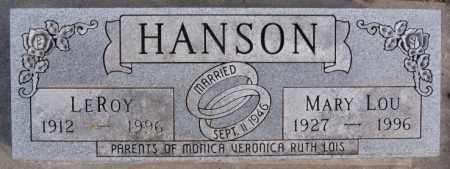 HANSON, LEROY - McCook County, South Dakota | LEROY HANSON - South Dakota Gravestone Photos