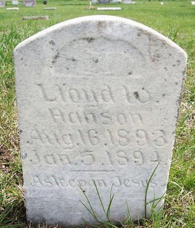 HANSON, LLOYD W - McCook County, South Dakota   LLOYD W HANSON - South Dakota Gravestone Photos