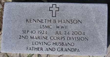 HANSON, KENNETH B (WWII) - McCook County, South Dakota   KENNETH B (WWII) HANSON - South Dakota Gravestone Photos