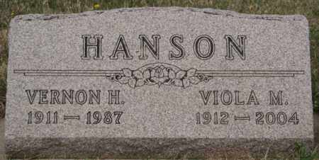 HANSON, VERNON H - McCook County, South Dakota   VERNON H HANSON - South Dakota Gravestone Photos