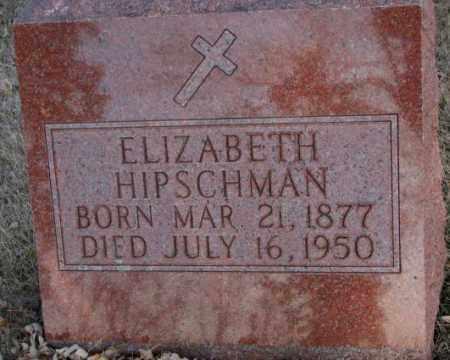 HIPSCHMAN, ELIZABETH - McCook County, South Dakota | ELIZABETH HIPSCHMAN - South Dakota Gravestone Photos