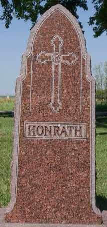 HONRATH, FAMILY MARKER - McCook County, South Dakota | FAMILY MARKER HONRATH - South Dakota Gravestone Photos