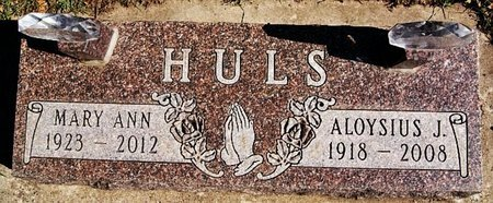 HULS, ALOYSIUS J - McCook County, South Dakota | ALOYSIUS J HULS - South Dakota Gravestone Photos