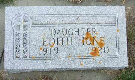 JOHNSON, EDITH IONE - McCook County, South Dakota | EDITH IONE JOHNSON - South Dakota Gravestone Photos