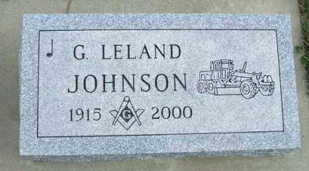 JOHNSON, G. LELAND - McCook County, South Dakota | G. LELAND JOHNSON - South Dakota Gravestone Photos