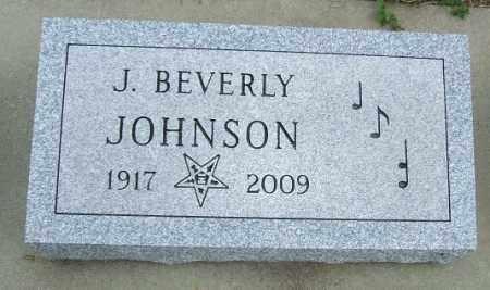 JOHNSON, J. BEVERLY - McCook County, South Dakota   J. BEVERLY JOHNSON - South Dakota Gravestone Photos
