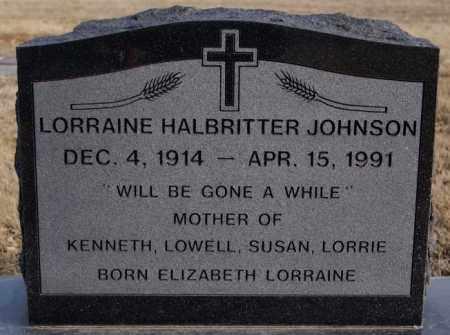 JOHNSON, LORRAINE - McCook County, South Dakota | LORRAINE JOHNSON - South Dakota Gravestone Photos