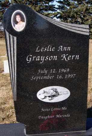 GRAYSON KERN, LESLIE ANN - McCook County, South Dakota | LESLIE ANN GRAYSON KERN - South Dakota Gravestone Photos