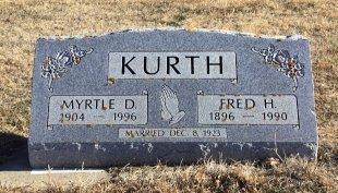 KURTH, MYRTLE D - McCook County, South Dakota | MYRTLE D KURTH - South Dakota Gravestone Photos