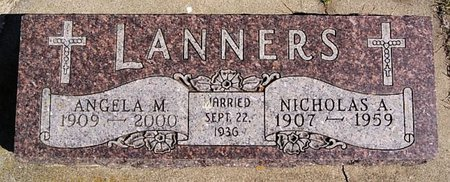 LANNERS, ANGELA M - McCook County, South Dakota   ANGELA M LANNERS - South Dakota Gravestone Photos