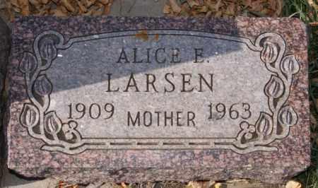 LARSEN, ALICE E - McCook County, South Dakota   ALICE E LARSEN - South Dakota Gravestone Photos