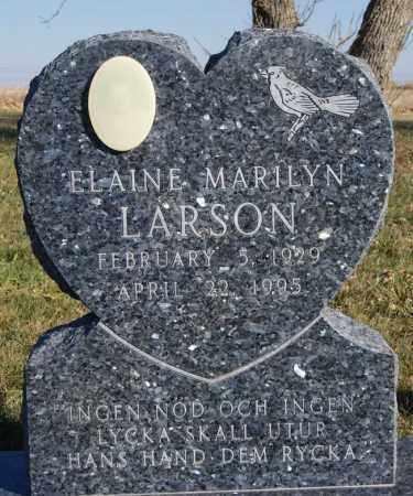 LARSON, ELAINE MARILYN - McCook County, South Dakota   ELAINE MARILYN LARSON - South Dakota Gravestone Photos