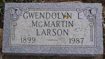 LARSON, GWENDOLYN L - McCook County, South Dakota   GWENDOLYN L LARSON - South Dakota Gravestone Photos