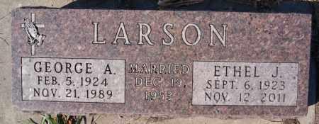 LARSON, GEORGE A - McCook County, South Dakota | GEORGE A LARSON - South Dakota Gravestone Photos