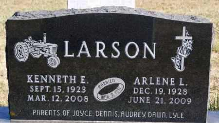 LARSON, KENNETH E - McCook County, South Dakota   KENNETH E LARSON - South Dakota Gravestone Photos