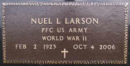 LARSON, NUEL L (WWII) - McCook County, South Dakota   NUEL L (WWII) LARSON - South Dakota Gravestone Photos