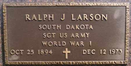 LARSON, RALPH J (WWI) - McCook County, South Dakota   RALPH J (WWI) LARSON - South Dakota Gravestone Photos