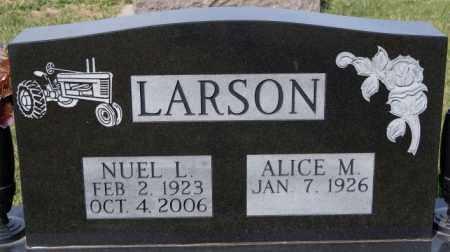 LARSON, NUEL L - McCook County, South Dakota | NUEL L LARSON - South Dakota Gravestone Photos