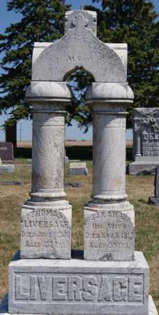 LIVERSAGE, THOMAS - McCook County, South Dakota | THOMAS LIVERSAGE - South Dakota Gravestone Photos