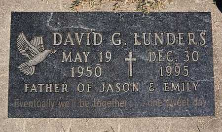LUNDERS, DAVID G - McCook County, South Dakota | DAVID G LUNDERS - South Dakota Gravestone Photos
