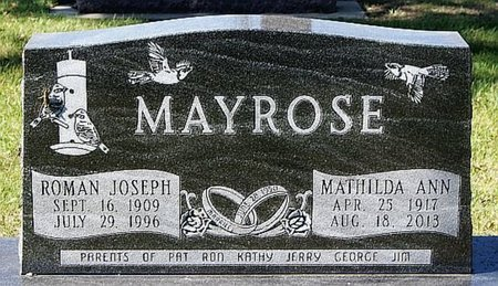 MAYROSE, ROMAN JOSEPH - McCook County, South Dakota | ROMAN JOSEPH MAYROSE - South Dakota Gravestone Photos