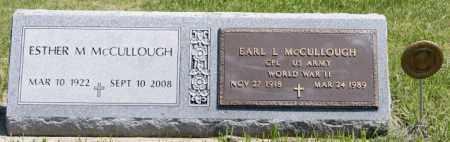 MCCULLOUGH, EARL L - McCook County, South Dakota   EARL L MCCULLOUGH - South Dakota Gravestone Photos