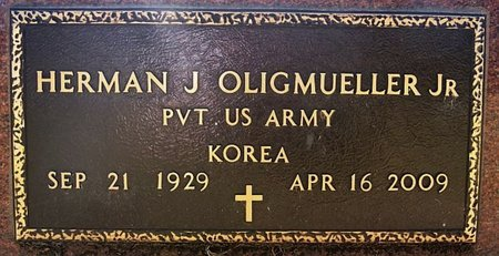 OLIGMUELLER, HERMAN J JR (KOREA) - McCook County, South Dakota | HERMAN J JR (KOREA) OLIGMUELLER - South Dakota Gravestone Photos