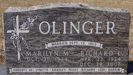 OLINGER, RICHARD E - McCook County, South Dakota   RICHARD E OLINGER - South Dakota Gravestone Photos