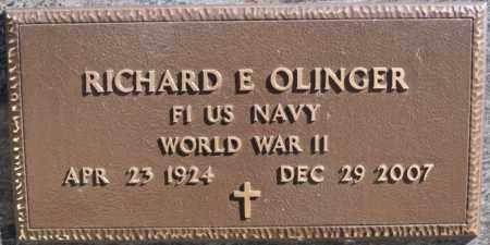 OLINGER, RICHARD E (WWII) - McCook County, South Dakota   RICHARD E (WWII) OLINGER - South Dakota Gravestone Photos