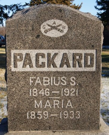 PACKARD, FABIUS S - McCook County, South Dakota | FABIUS S PACKARD - South Dakota Gravestone Photos