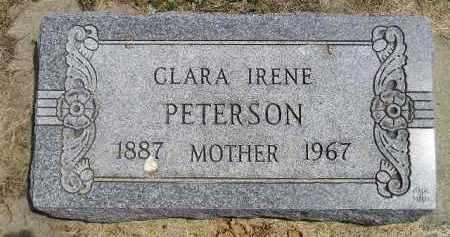 PETERSON, CLARA IRENE - McCook County, South Dakota | CLARA IRENE PETERSON - South Dakota Gravestone Photos