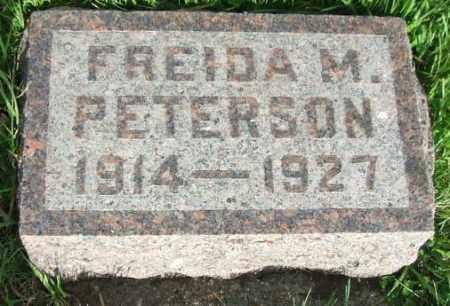 PETERSON, FREIDA M. - McCook County, South Dakota   FREIDA M. PETERSON - South Dakota Gravestone Photos