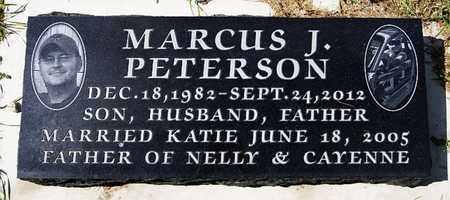 PETERSON, MARCUS J - McCook County, South Dakota   MARCUS J PETERSON - South Dakota Gravestone Photos
