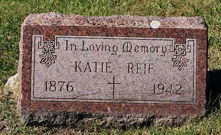 REIF, KATIE - McCook County, South Dakota | KATIE REIF - South Dakota Gravestone Photos
