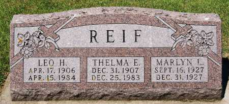 REIF, THELMA E - McCook County, South Dakota | THELMA E REIF - South Dakota Gravestone Photos