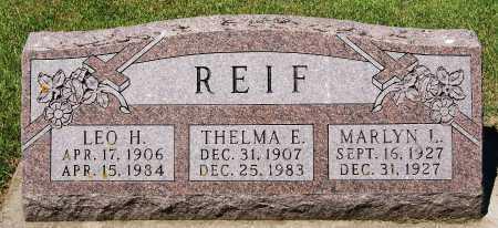 REIF, THELMA E - McCook County, South Dakota | THELMA E REIF - South Dakota Gravestone Photos