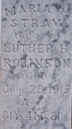 STRAW ROBINSON, MARIA H CLOSE UP - McCook County, South Dakota | MARIA H CLOSE UP STRAW ROBINSON - South Dakota Gravestone Photos