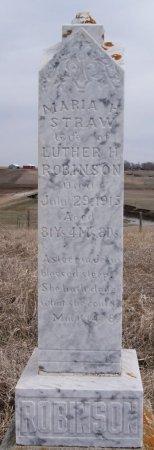 STRAW ROBINSON, MARIA H - McCook County, South Dakota | MARIA H STRAW ROBINSON - South Dakota Gravestone Photos