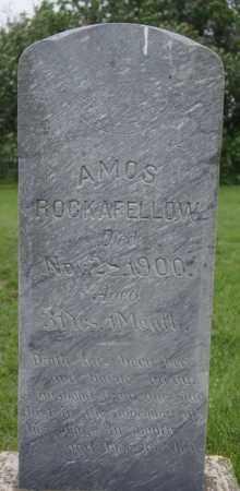ROCKAFELLOW, AMOS - McCook County, South Dakota | AMOS ROCKAFELLOW - South Dakota Gravestone Photos