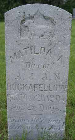 ROCKAFELLOW, MATILDA A - McCook County, South Dakota | MATILDA A ROCKAFELLOW - South Dakota Gravestone Photos