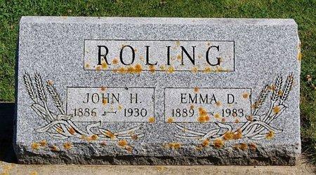 ROLING, JOHN H - McCook County, South Dakota   JOHN H ROLING - South Dakota Gravestone Photos