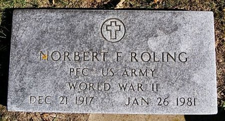 ROLING, NORBERT F (WWII) - McCook County, South Dakota | NORBERT F (WWII) ROLING - South Dakota Gravestone Photos