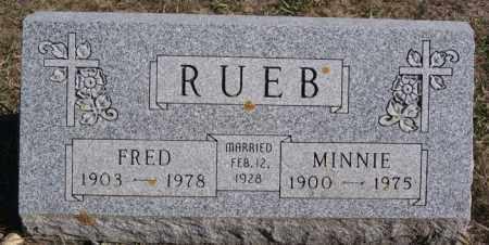 RUEB, FRED - McCook County, South Dakota | FRED RUEB - South Dakota Gravestone Photos