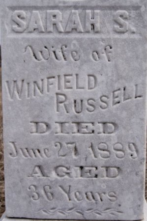 RUSSELL, SARAH S CLOSE UP - McCook County, South Dakota | SARAH S CLOSE UP RUSSELL - South Dakota Gravestone Photos