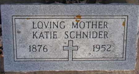 SCHNIDER, KATIE - McCook County, South Dakota | KATIE SCHNIDER - South Dakota Gravestone Photos