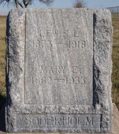 SODERHOLM, MARY E - McCook County, South Dakota   MARY E SODERHOLM - South Dakota Gravestone Photos