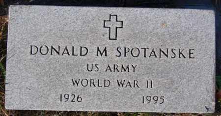 SPOTANSKE, DONALD M (WWII) - McCook County, South Dakota | DONALD M (WWII) SPOTANSKE - South Dakota Gravestone Photos